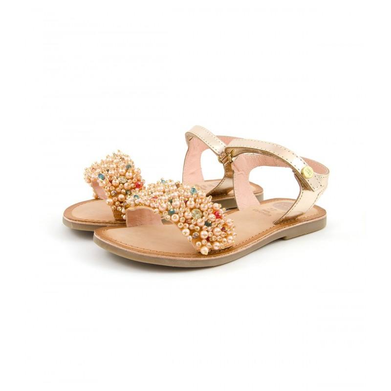 Velcro Gioseppo Y Perlas De Piel Sandalia Con n8w0PkOX