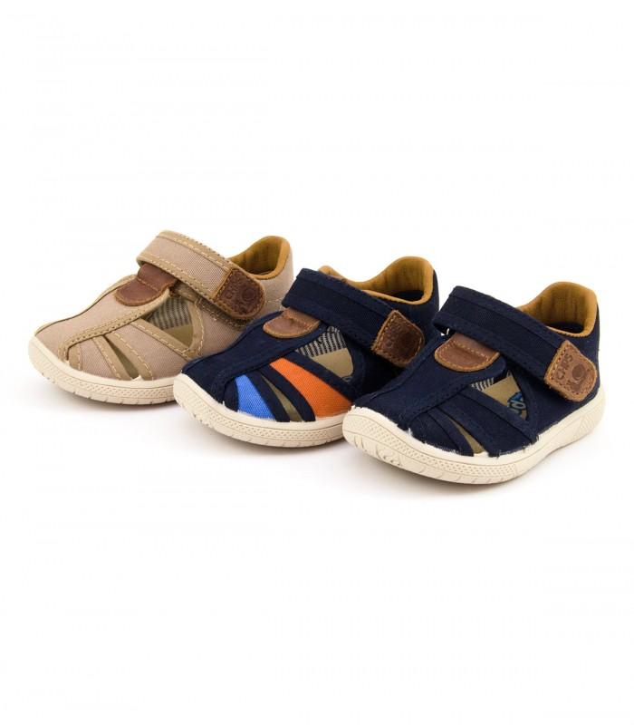 De Chispas Con Velcro Sandalia Lona Yby76gf