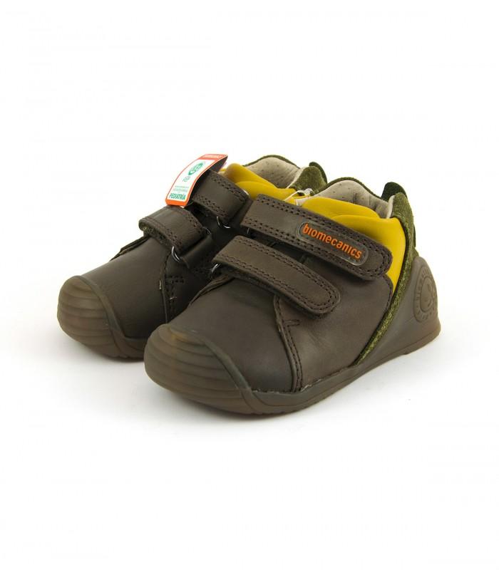 Zapato Biomecanics preandante de piel con 2 velcros